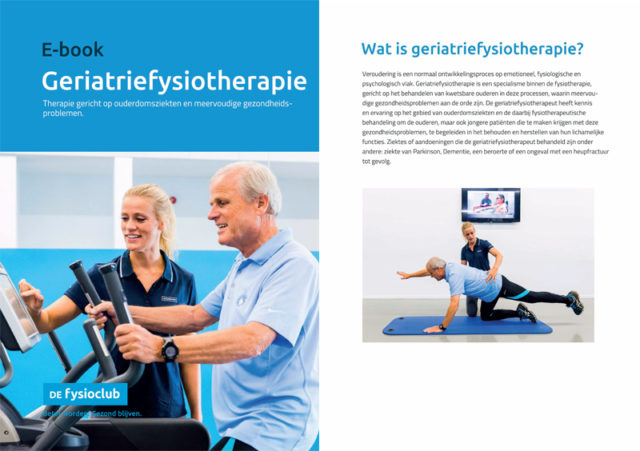 Lees alles over geriatriefysiotherapie voor ouderen in dit e-book